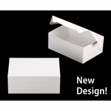 "3602 - 10"" x 7"" x 4"" White/White without Window, Lock & Tab Box With Lid"