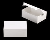"3602 - 10"" x 7"" x 4"" White/White without Window, Lock & Tab Box With Lid. A22"