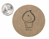 """3608 - 2 1/2"""" Thank You Cupcake Favor Label, 50 Count"""