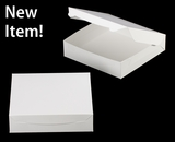 "3609 - 10"" x 10"" x 2 1/2"" White/White without Window, Lock & Tab Box With Lid"