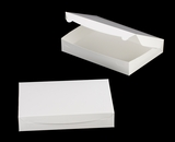 "3610 - 14"" x 10"" x 2 1/2"" White/White without Window, Lock & Tab Box With Lid"
