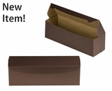 "3611 - 13"" x 4"" x 4"" Chocolate/Brown without Window, One Piece Lock & Tab Box With Lid"