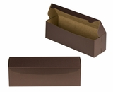 "3611 - 13"" x 4"" x 4"" Chocolate Brown/Brown without Window, One Piece Lock & Tab Box With Lid"