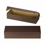 "3612 - 20"" x 7"" x 4"" Chocolate/Brown without Window, One Piece Lock & Tab Box With Lid"