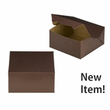 "3638 - 8"" x 8"" x 4"" Chocolate/Brown without Window, Lock & Tab Box With Lid"