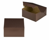 "3638 - 8"" x 8"" x 4"" Chocolate/Brown without Window, Lock & Tab Box With Lid. A20"
