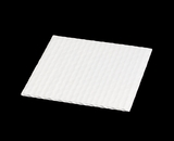 "3651 - 5 7/8"" x 5 7/8"" Candy Pad, White with White Core, 3-Ply Glassine Candy Box Liner. B01"
