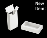 "3655 - 4 5/16"" x 2 1/4"" x 1"" White/White, Double Favor Box with window"
