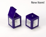 "3669 - 1 3/4"" x 1 3/4"" x 2"" Purple/White Single Cake Pop Box"