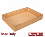 "3690 - 26"" x 18"" x 4"" Brown/Brown Lock & Tab Full Sheet Cake Box, Corrugated Base Only, 25 COUNT"