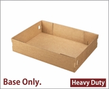 "3703 - 19"" x 14"" x 4"" Brown/Brown Lock & Tab Half Sheet Cake Box, Corrugated Base Only, 50 COUNT"