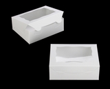 """3719 - 7"""" x 5 1/2"""" x 2 1/2"""" White/White with Window, Lock & Tab Box with Lid"""