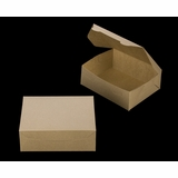 """3723 - 7"""" x 5 1/2"""" x 2 1/2"""" Brown/Brown without Window, Lock & Tab Box With Lid"""