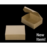 "3723 - 7"" x 5 1/2"" x 2 1/2"" Brown/Brown without Window, Lock & Tab Box With Lid"
