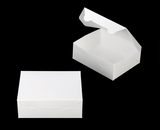 """3724 - 7"""" x 5 1/2"""" x 2 1/2"""" White/White without Window, Lock & Tab Box With Lid"""
