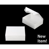 "3724 - 7"" x 5 1/2"" x 2 1/2"" White/White without Window, Lock & Tab Box With Lid"