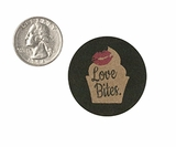 "3774 - 1 1/2"" Love Bites, Favor Label, on Kraft, 50 Count"