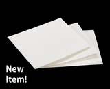 "3795 - 4 3/4"" x 5 3/4"" White Grease Resistant Cookie Card"