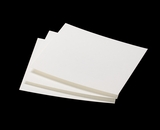 "3797 - 5"" x 5 3/4"" White Grease Resistant Cookie Card"