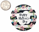"3799 - 2 1/2"" Mother's Day Flowers/Stripes Favor Label, 50 Count"