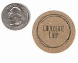 "3809 - 1 1/2"" Chocolate Chip Flavor Label, 50 Count"