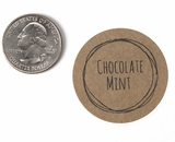 "3810 - 1 1/2"" Chocolate Mint Flavor Label, 50 Count"