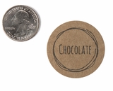 "3812 - 1 1/2"" Chocolate Flavor Label, 50 Count"