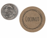 "3814 - 1 1/2"" Coconut Flavor Label, 50 Count"