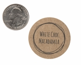 "3820 - 1 1/2"" White Chocolate Macadamia Flavor Label, 50 Count"