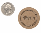 "3827 - 1 1/2"" Pumpkin Flavor Label, 50 Count"