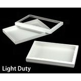 "3849x3539 - 14"" x 10"" x 1 1/4"" White/White Light Duty Two Piece Simplex Box Set, with Poly Window"