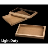 "3850x3552 - 14"" x 10"" x 1 1/4"" Brown/Brown Light Duty Two Piece Simplex Box Set, with Poly Window"