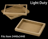 "3852x3532 - 12 1/2"" x 9 3/4"" x 1 1/4"" Brown/Brown Light Duty Two Piece Simplex Box Set, with Poly Window"