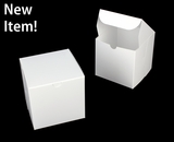 "3861 - 6"" x 6"" x 6"" White/White without Window, Lock & Tab Box with Lid. A24"