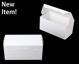 "3862 - 8"" x 4"" x 4"" White/White without Window, One Piece Lock & Tab Box with Lid"