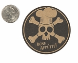 "3900 - 2 1/2"" Halloween Bone App�tit, Favor Label, on Kraft, 50 Count"