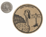 "3907 - 2 1/2"" Happy Thanksgiving, Favor Label, on Kraft, 50 Count"