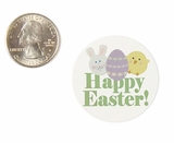 """3941 - 1 1/2"""" Happy Easter, Favor Label, on White, 50 Count"""