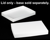 "396 - 26"" x 18"" x 3"" White/White Lock & Tab Box Lid Only, without Window, 50 COUNT. A25"