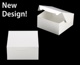 """543 - 10"""" x 10"""" x 5"""" White/White without Window, Lock & Tab Box With Lid"""