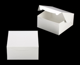 "543 - 10"" x 10"" x 5"" White/White without Window, Lock & Tab Box With Lid"