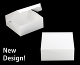 """554 -  12"""" x 12"""" x 5"""" White/White without Window, Lock & Tab Box With Lid, 50 COUNT"""