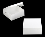 "554 -  12"" x 12"" x 5"" White/White without Window, Lock & Tab Box With Lid, 50 COUNT"