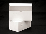 "742 - 9"" x 5"" x 4"" White/White without Window, Lock & Tab Box With Lid"