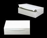 "752 - 14"" x 10"" x 4"" White/White without Window, Lock & Tab Box With Lid. A38"
