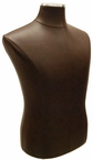 Brown, Faux Leather, Male Jersey Form