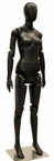 Up-Scale Black, Poseable, Female Mannequin Display