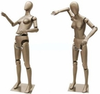 Up-Scale, Gun-metal Grey, Poseable, Female Mannequin Display
