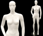 High-End, Abstract, Glossy-White Female Mannequin Display