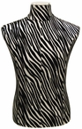 Flamboyant Zebra-Print Faux Leather, Male Jersey Form